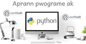Kouvèti Aprann pwograme ak Python's