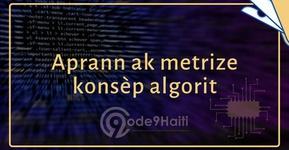 Kouvèti Aprann ak metrize konsèp algorit's